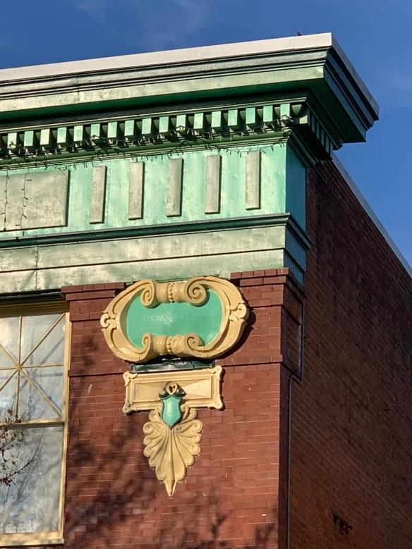 Cornice detail of 1906 Jefferson Security Bank building