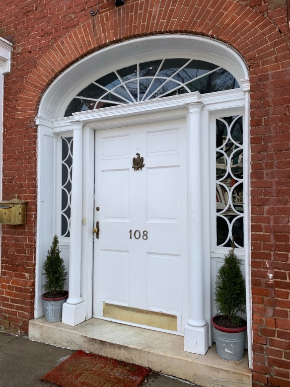 Federal entry with fanlight and sidelights